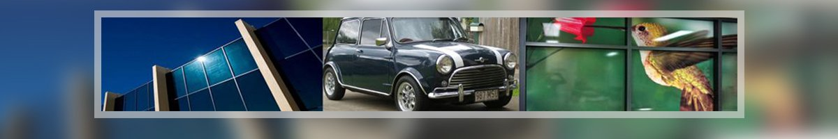 classical tint glass car banner