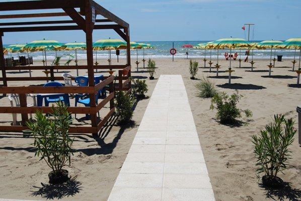 passerella sulla spiaggia