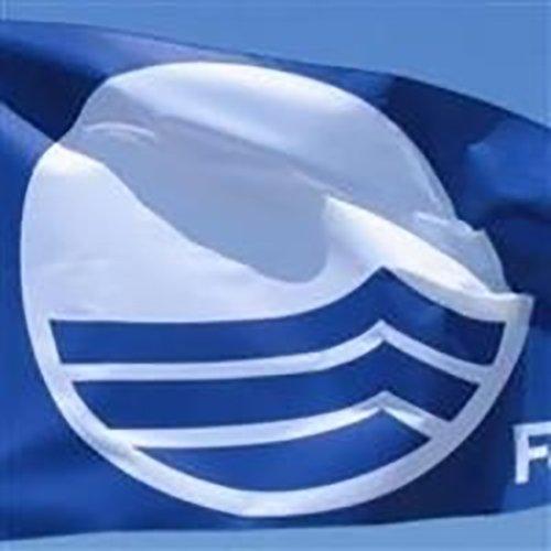 bandiera blu e bianca