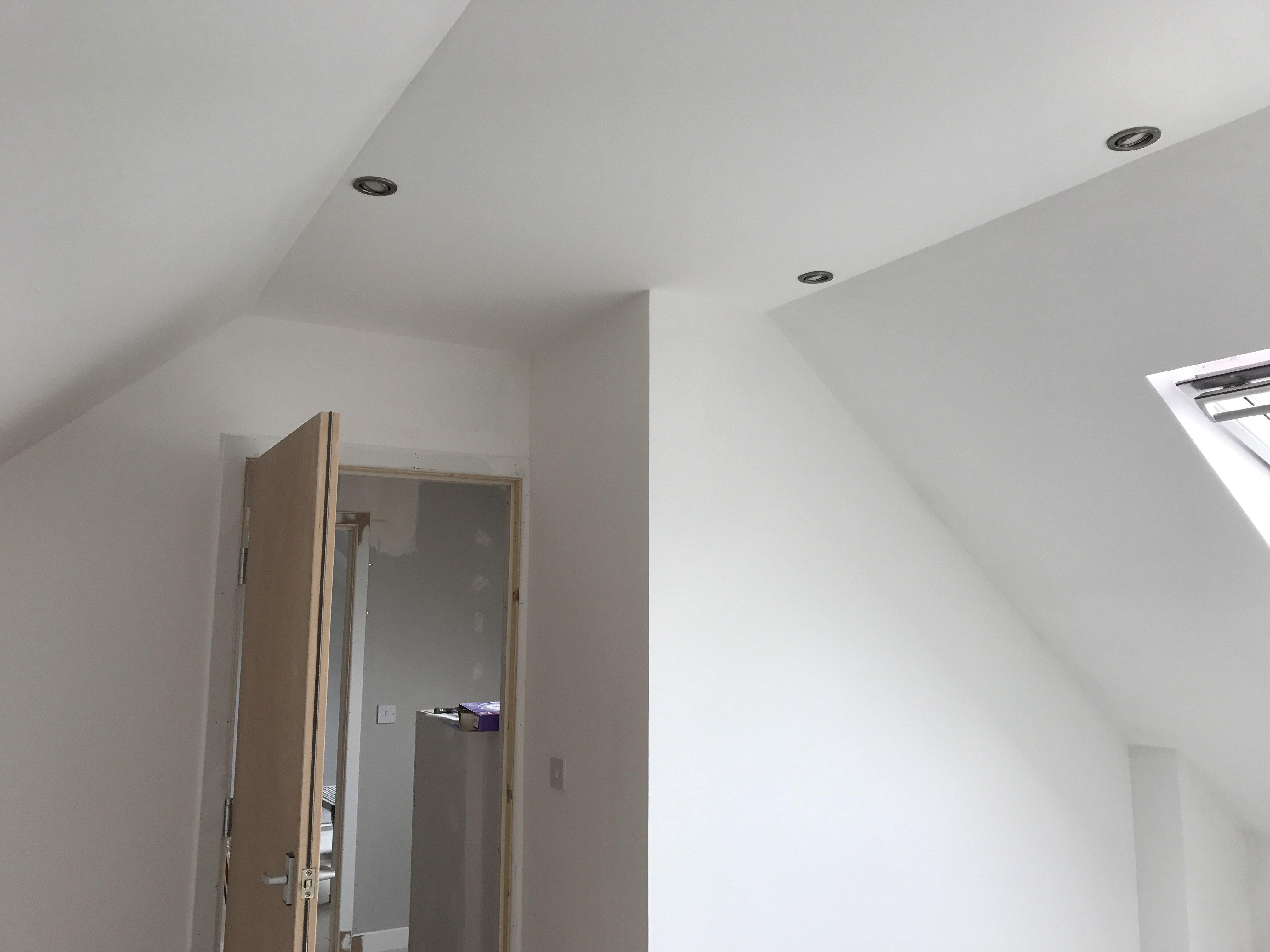 Walls painted in Midlothian with White Matt emulsion