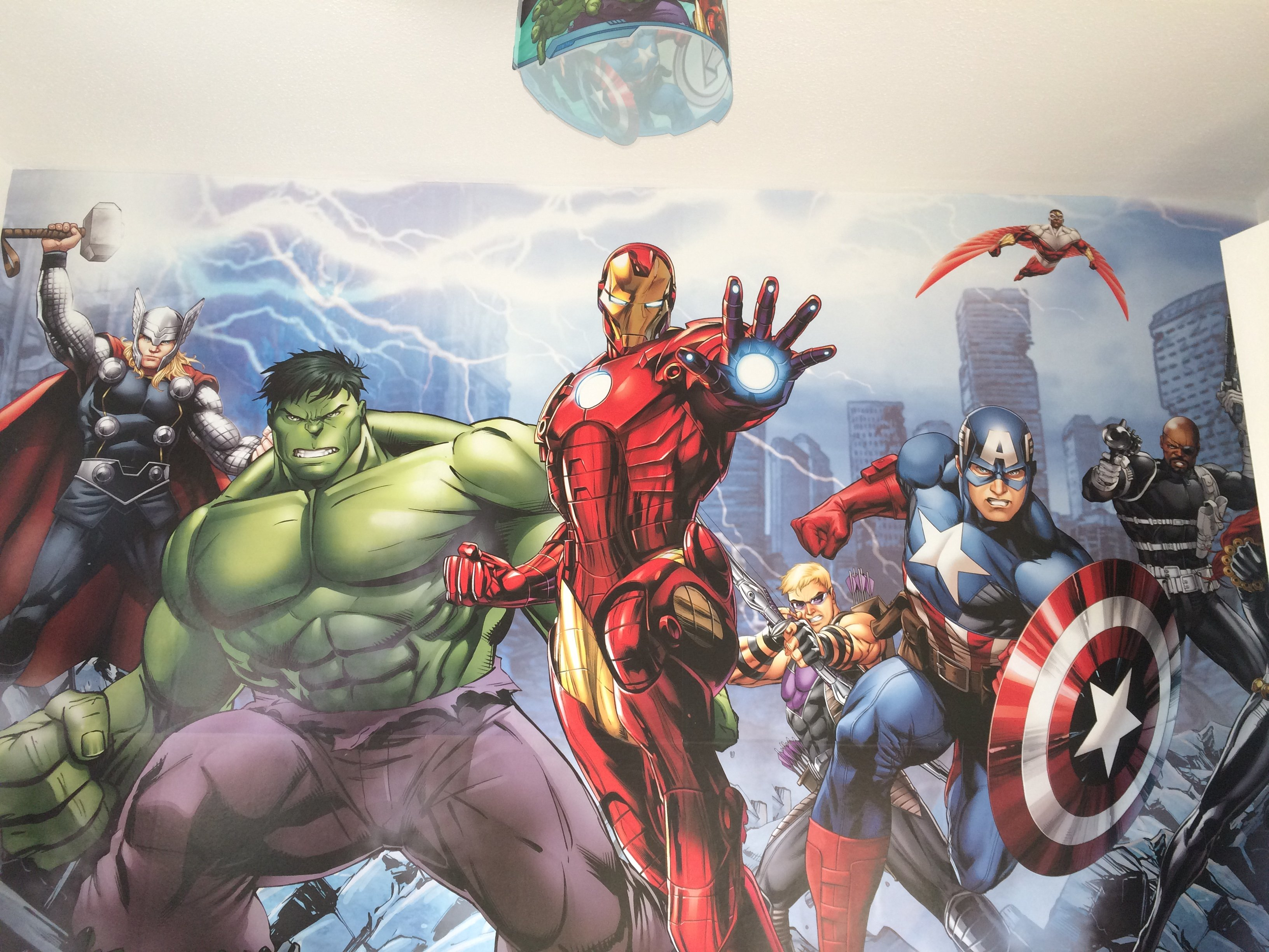 Marvel Comic wall mural in Edinburgh & midlothian