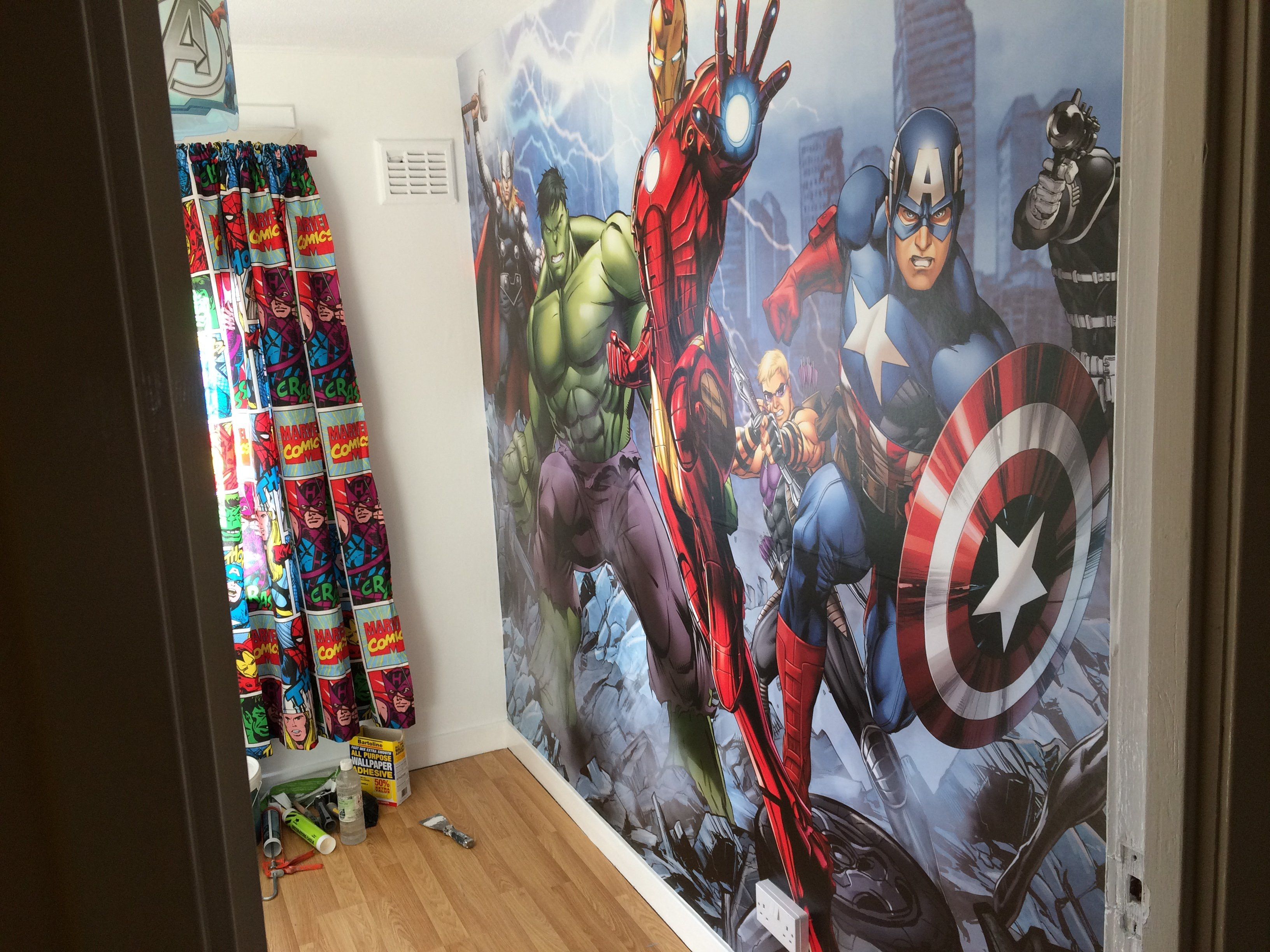 Marvel  wall mural in Edinburgh & midlothian