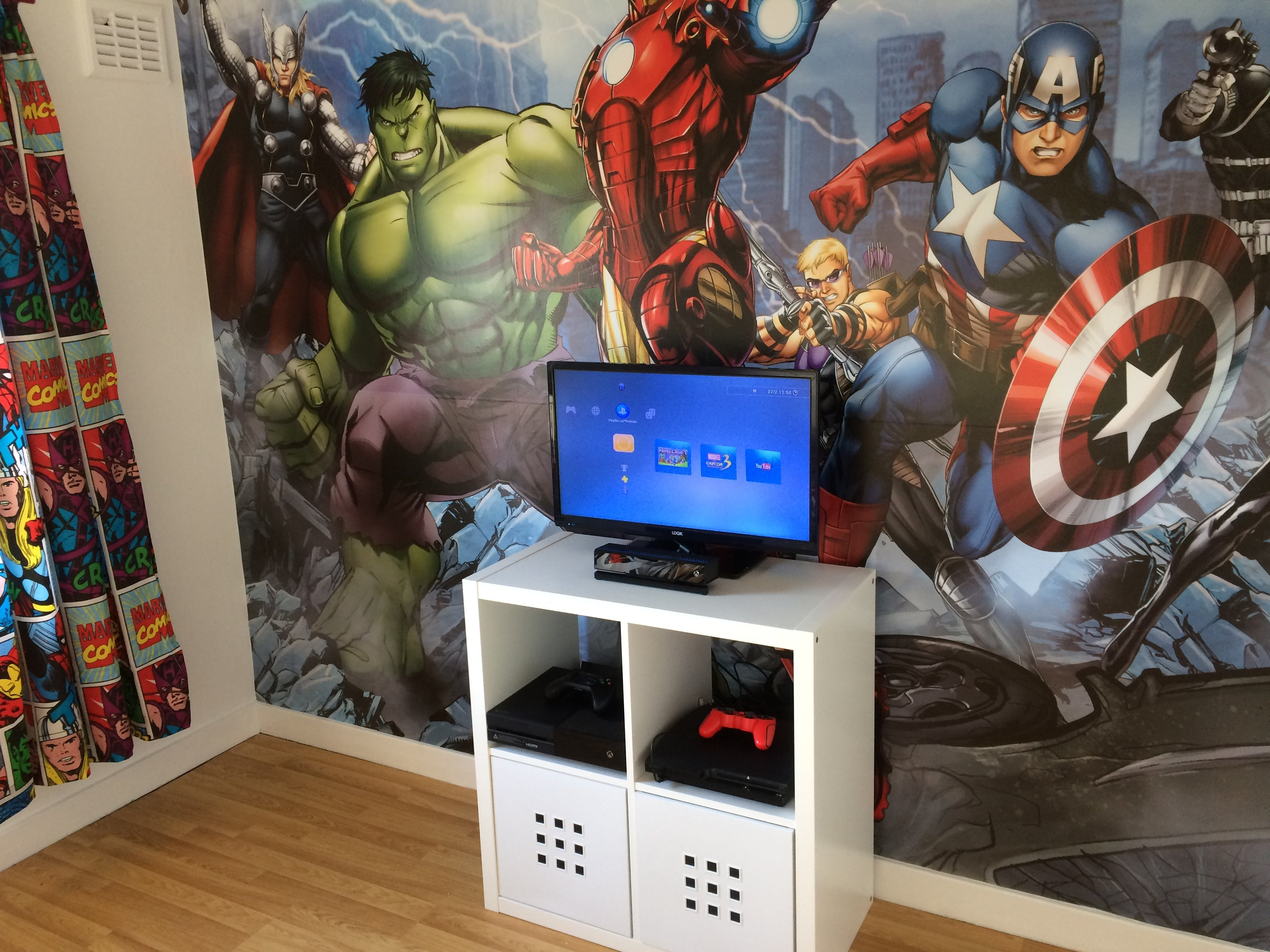 Kids room Marvel Comic wall mural in Edinburgh & midlothian