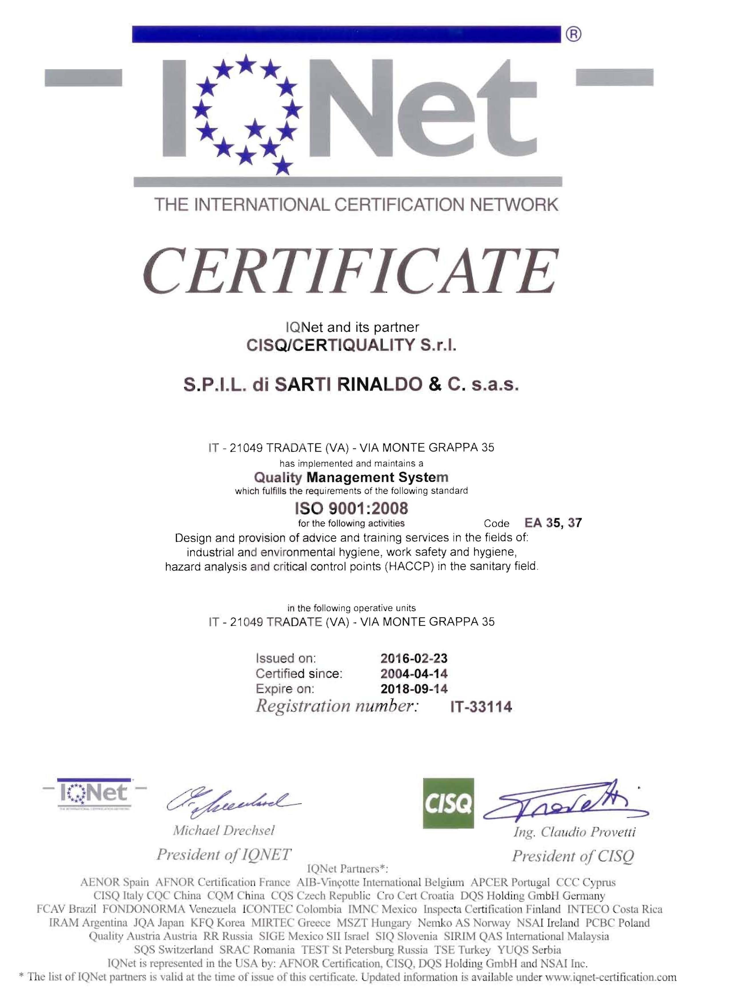certificazione e formazione