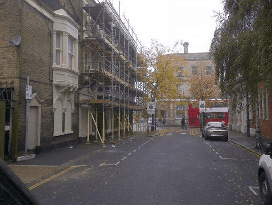 Scaffolding for residential constructions