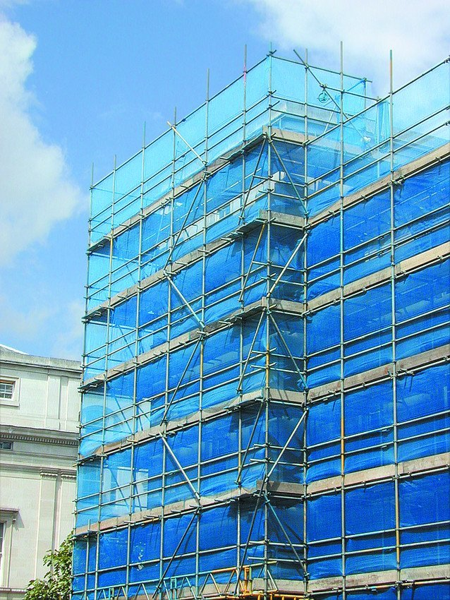 Scaffolding for commercial constructions