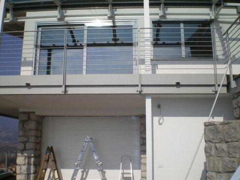 ringhiere per balconi in alluminio e pvc