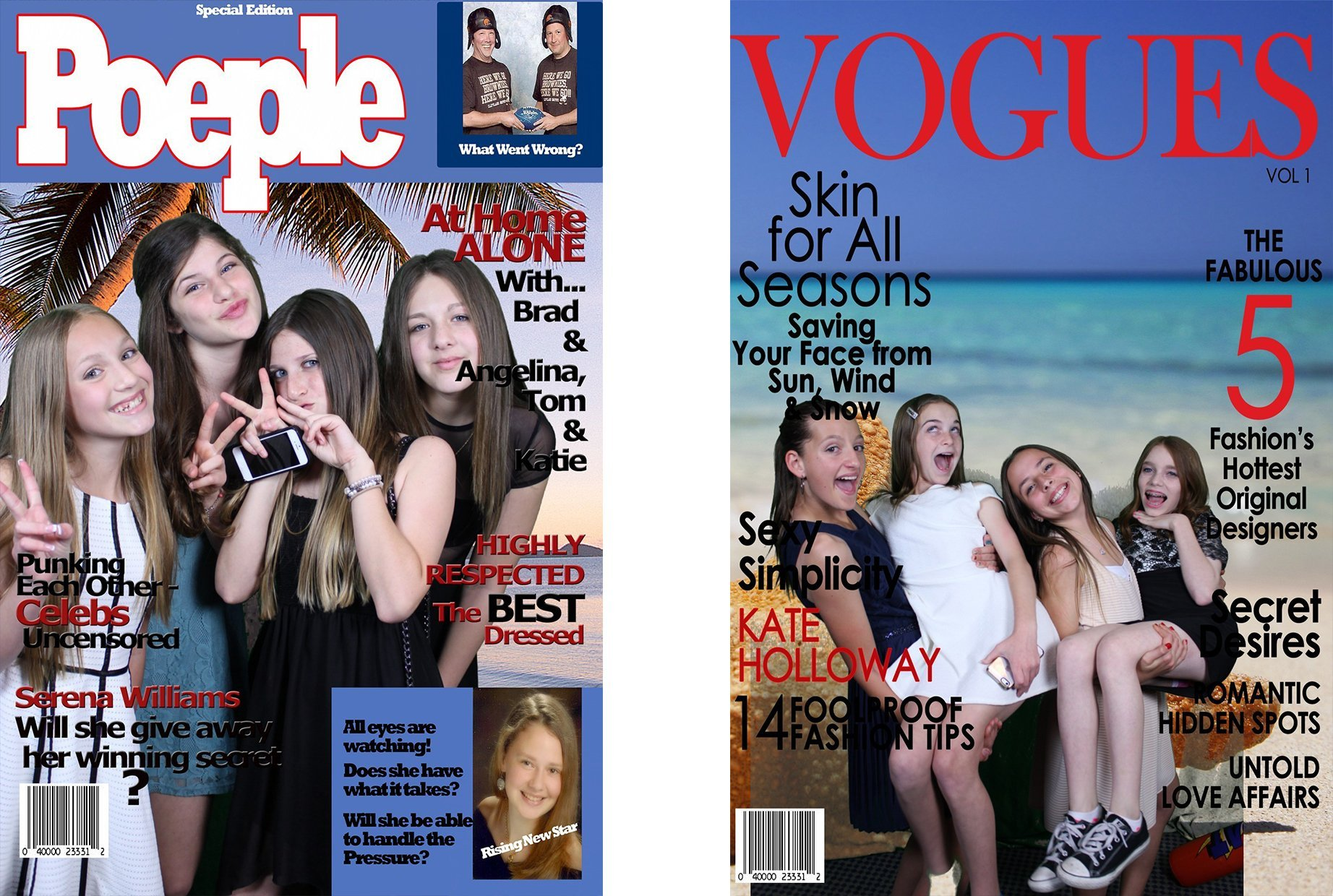 Green Screen Novelty Photos Magazine Covers for Events