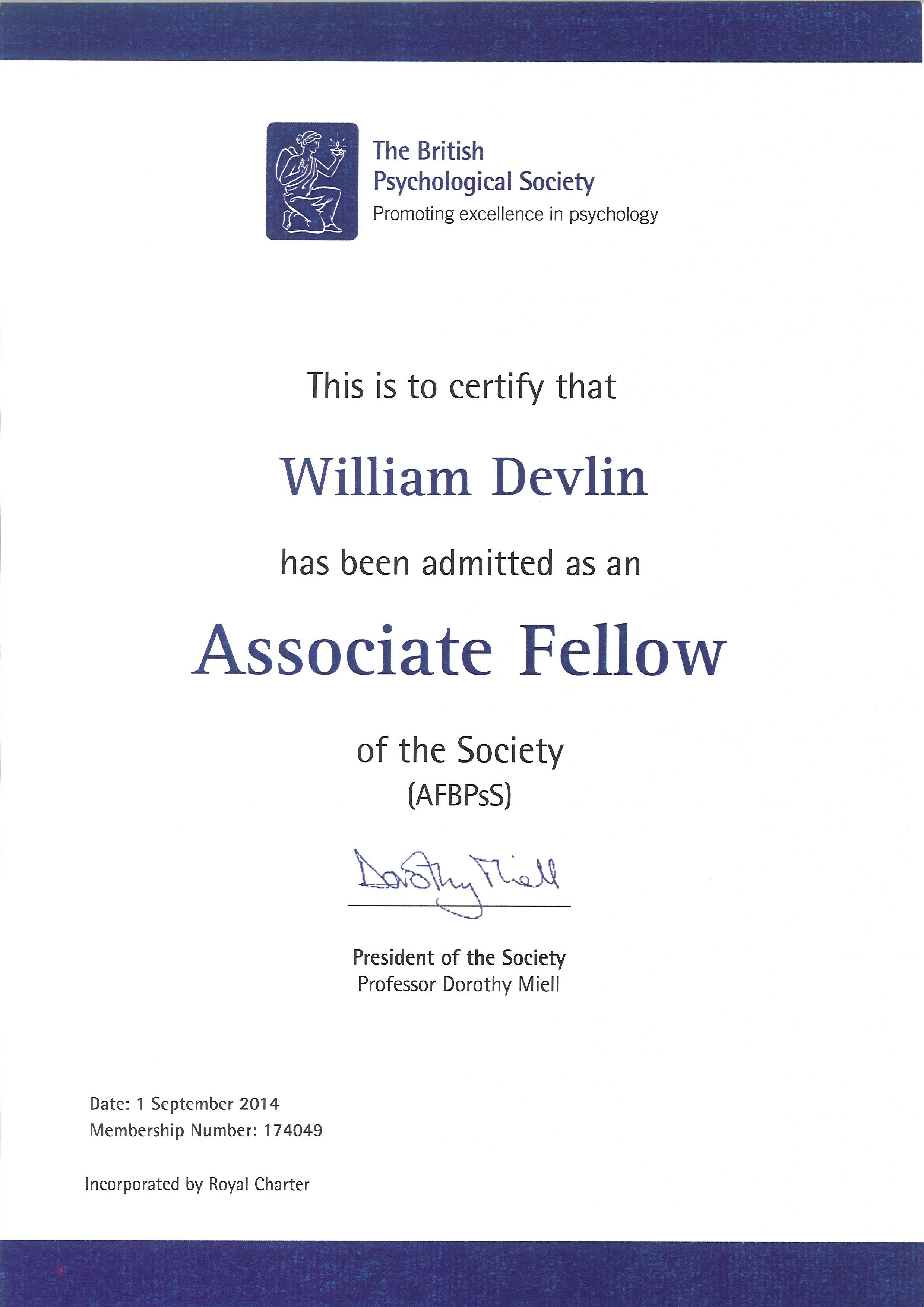 Professional accreditation and certification associate fellow of the bps 1betcityfo Choice Image