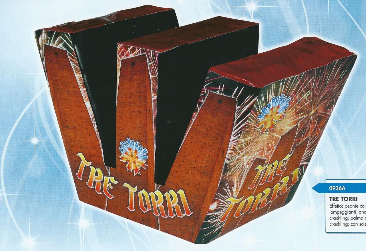 scatola di fuochi artificiali TRE TORRI