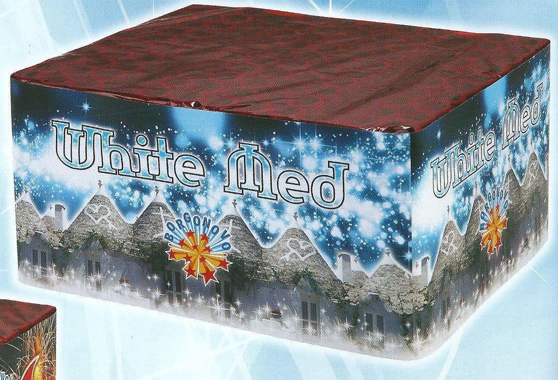 scatola di fuochi artificiali WHITE MED