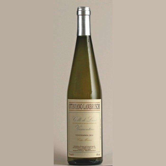 Bottiglia di vino costa marina ottaviano lambruschi