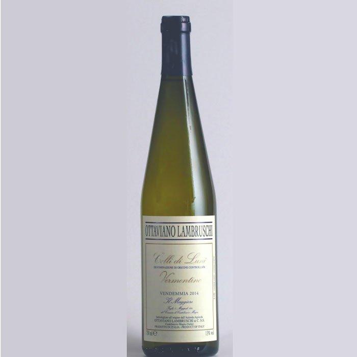Bottiglia di vino Vermentino Il Maggiore a Castelnuovo Magra