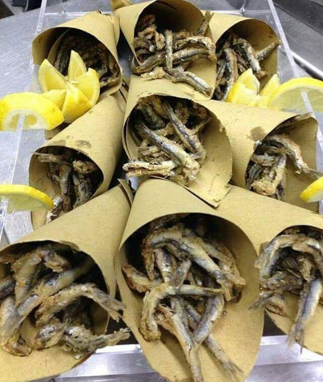 delle sardine fritte