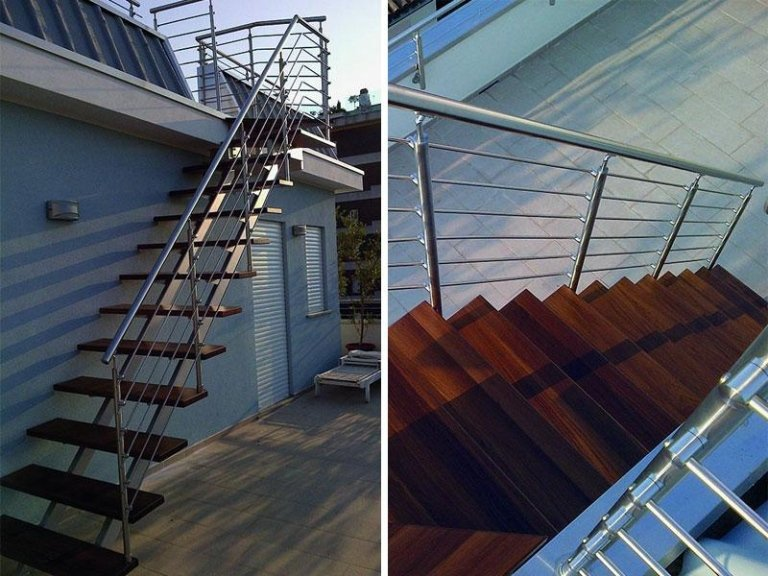 scala rampa legno