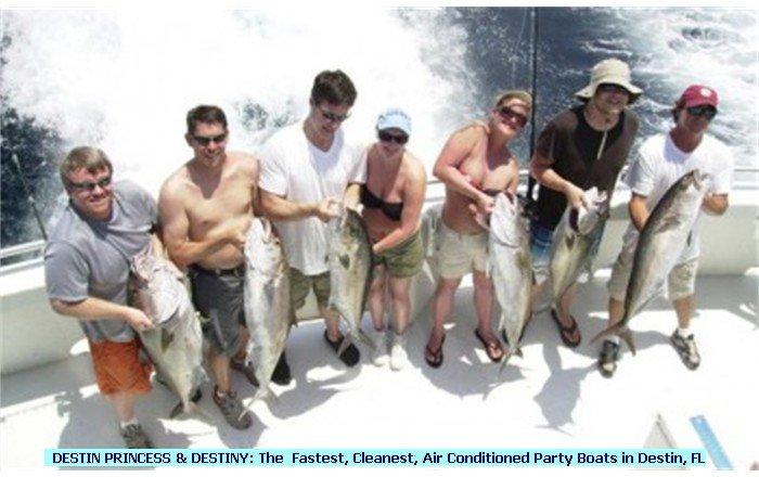 Fishing Destin - Party Boat Fishing - Destin Harbor - Nice Amberjack!