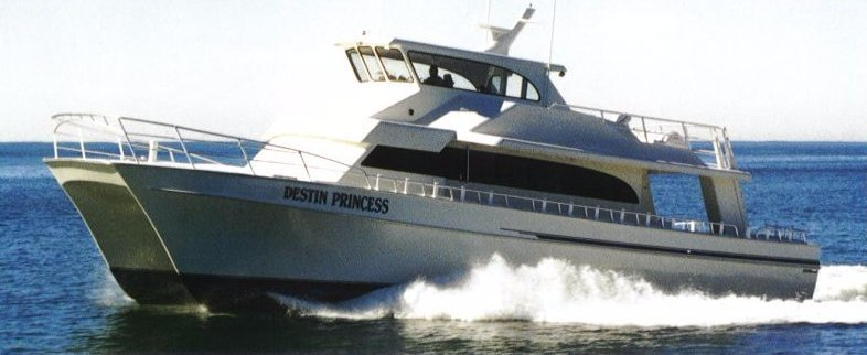 Destin Princess, Party Boat Fishing, Destin, Florida, 65-foot Catamaran, Safe, Air Conditioned, Fast, Clean