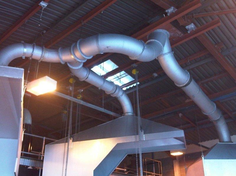 metal ceiling pipes