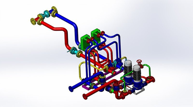 graphic of boiler system