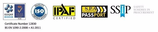 SSIP ISO UKAS IPAF logos