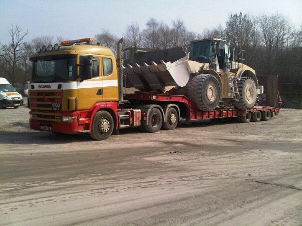 plant machinery being moved