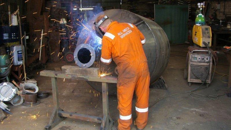 asphalt equipment welding