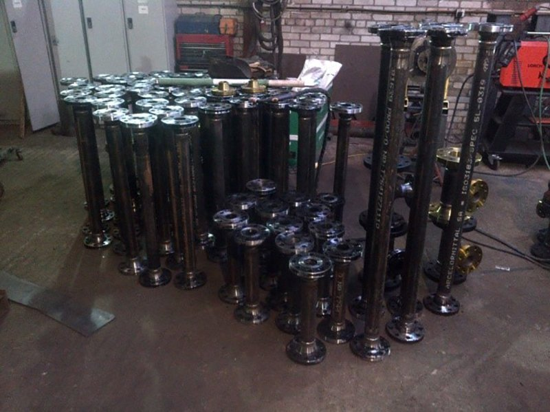 metal pieces after fabrication