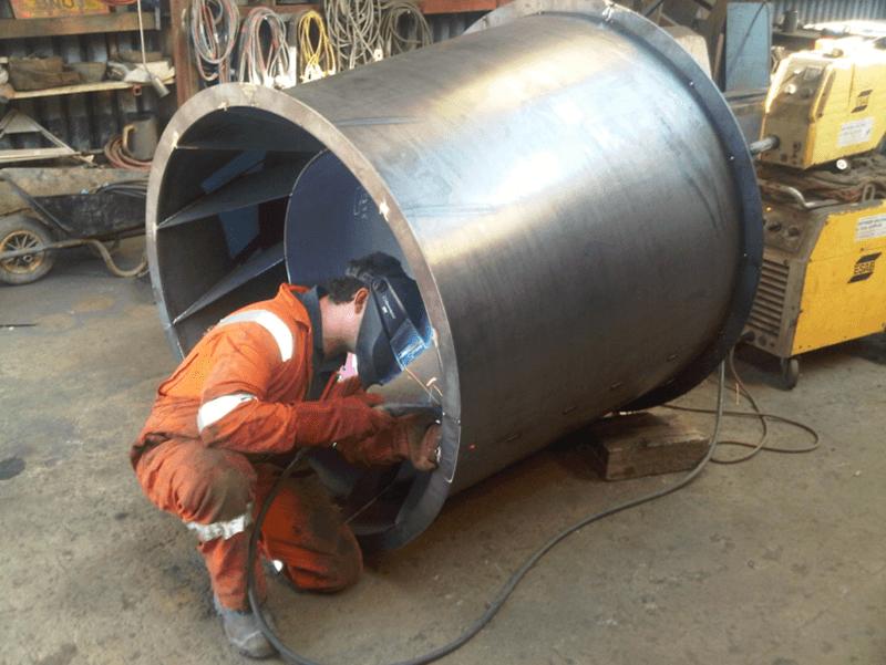 interior part welding