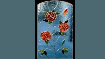 vetrata fiorata