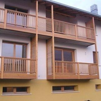ringhiere terrazze in legno
