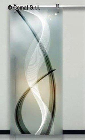 vetrata con decorazioni artistiche