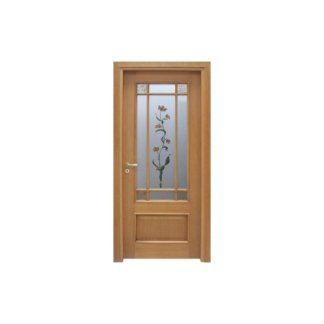 porta in ciliegio e vetro
