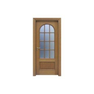 porta in pino e vetro