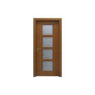 porta per interni in noce e vetro