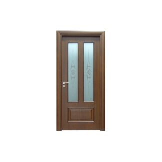 porta in legno e vetro a battente