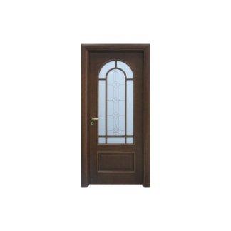 parta a battente in legno e vetro per esterni