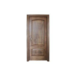 porta a battente in legno scuro