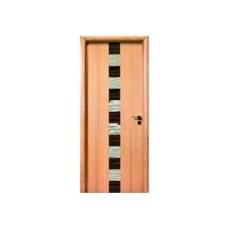porta in faggio e legno nero
