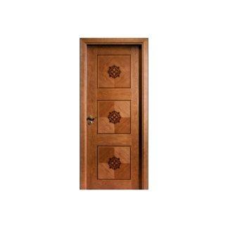 porta per interni con decorazione geometrica