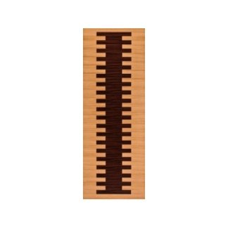 pannello in legno di pino e legno rosso