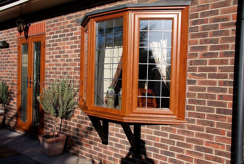 wooden frame window