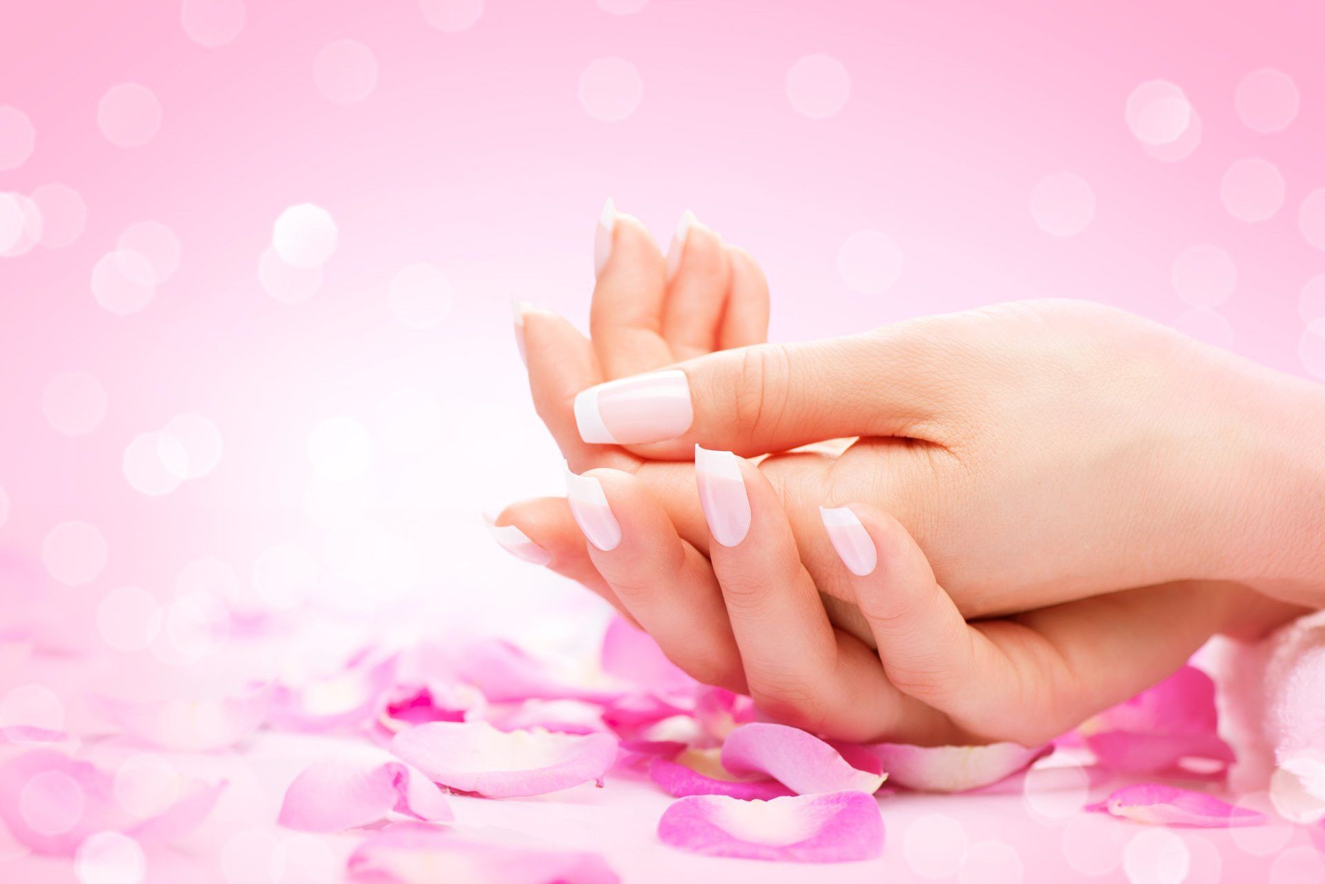 Acrylic nails work at our salon
