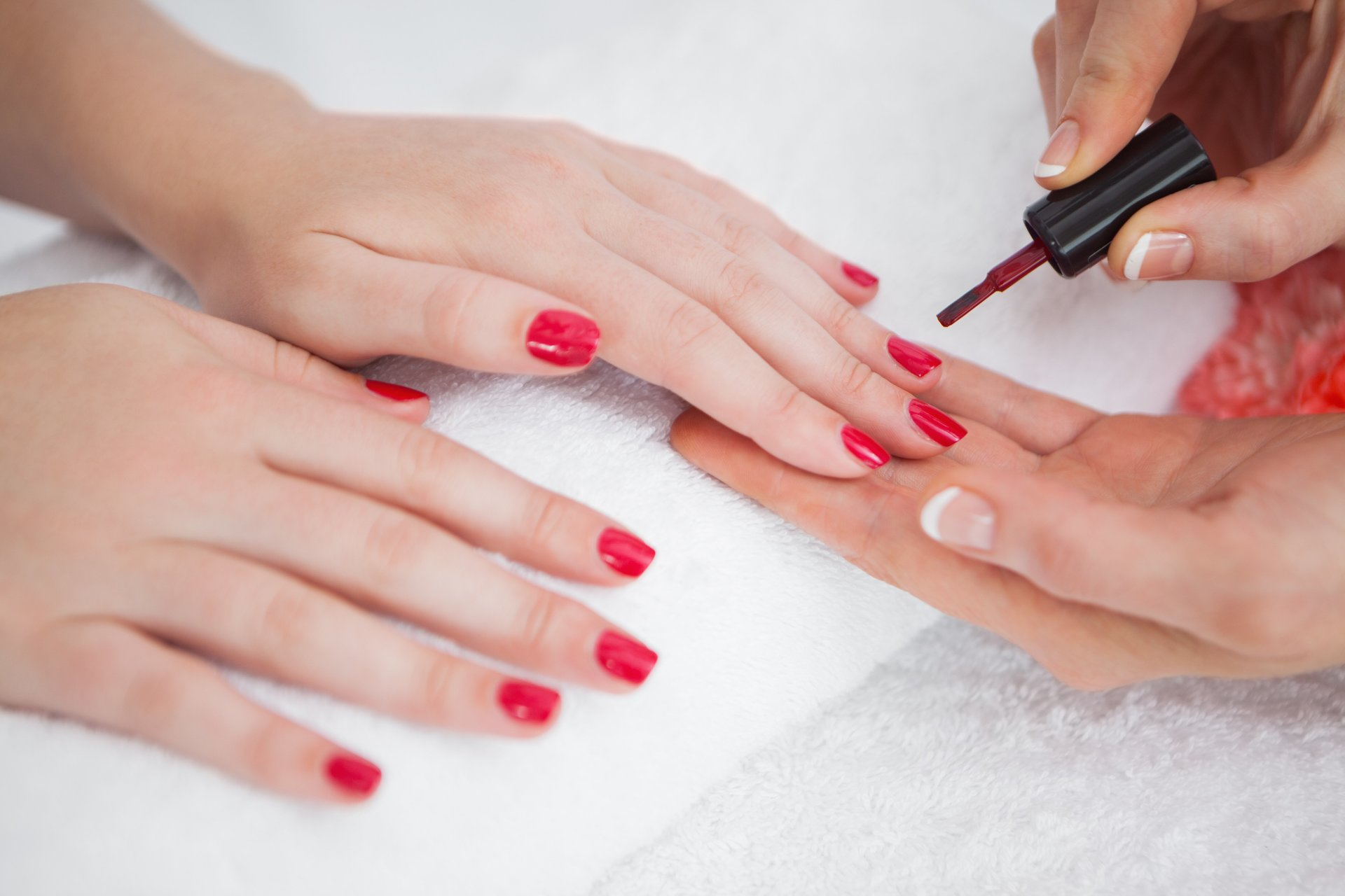 Nail repair services at our salon