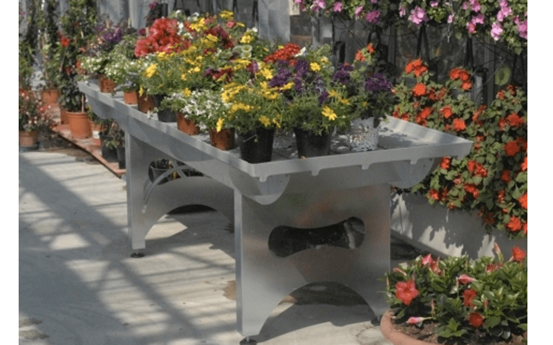 Steel benches for greenhouses