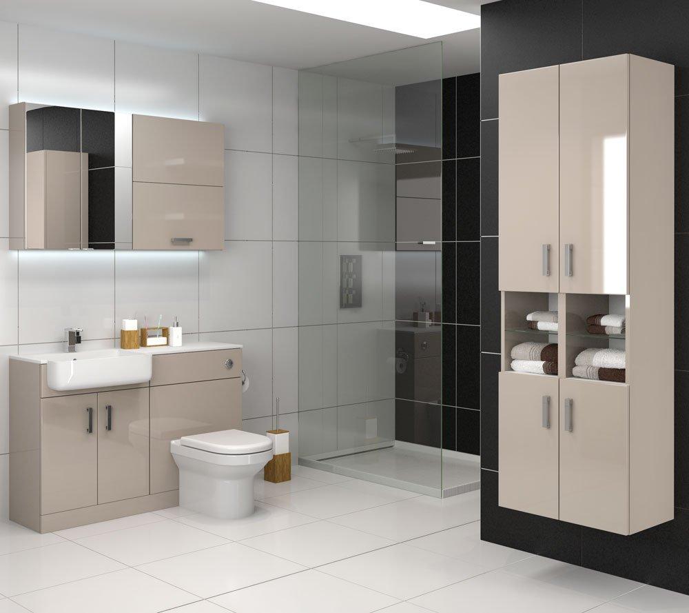 spacious bathroom