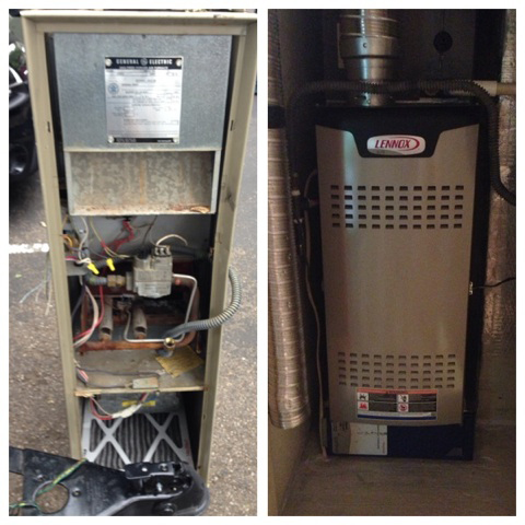 Furnace before and after installation