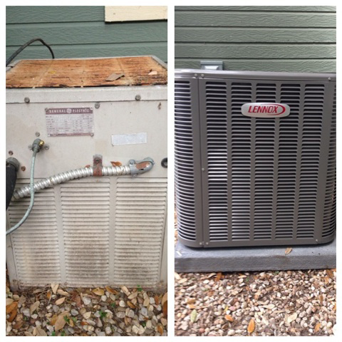 Air conditioner before and after installation