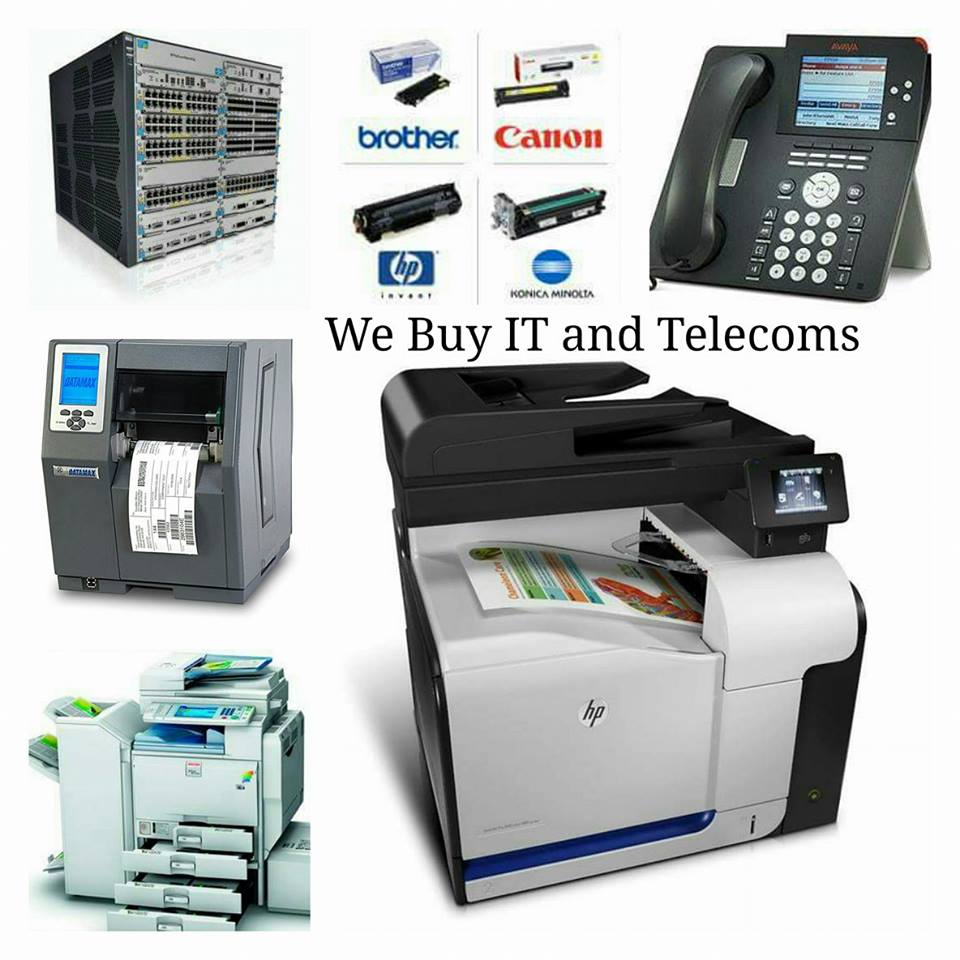 We buy and sell IT equipment, Printers, Copiers & Telecoms
