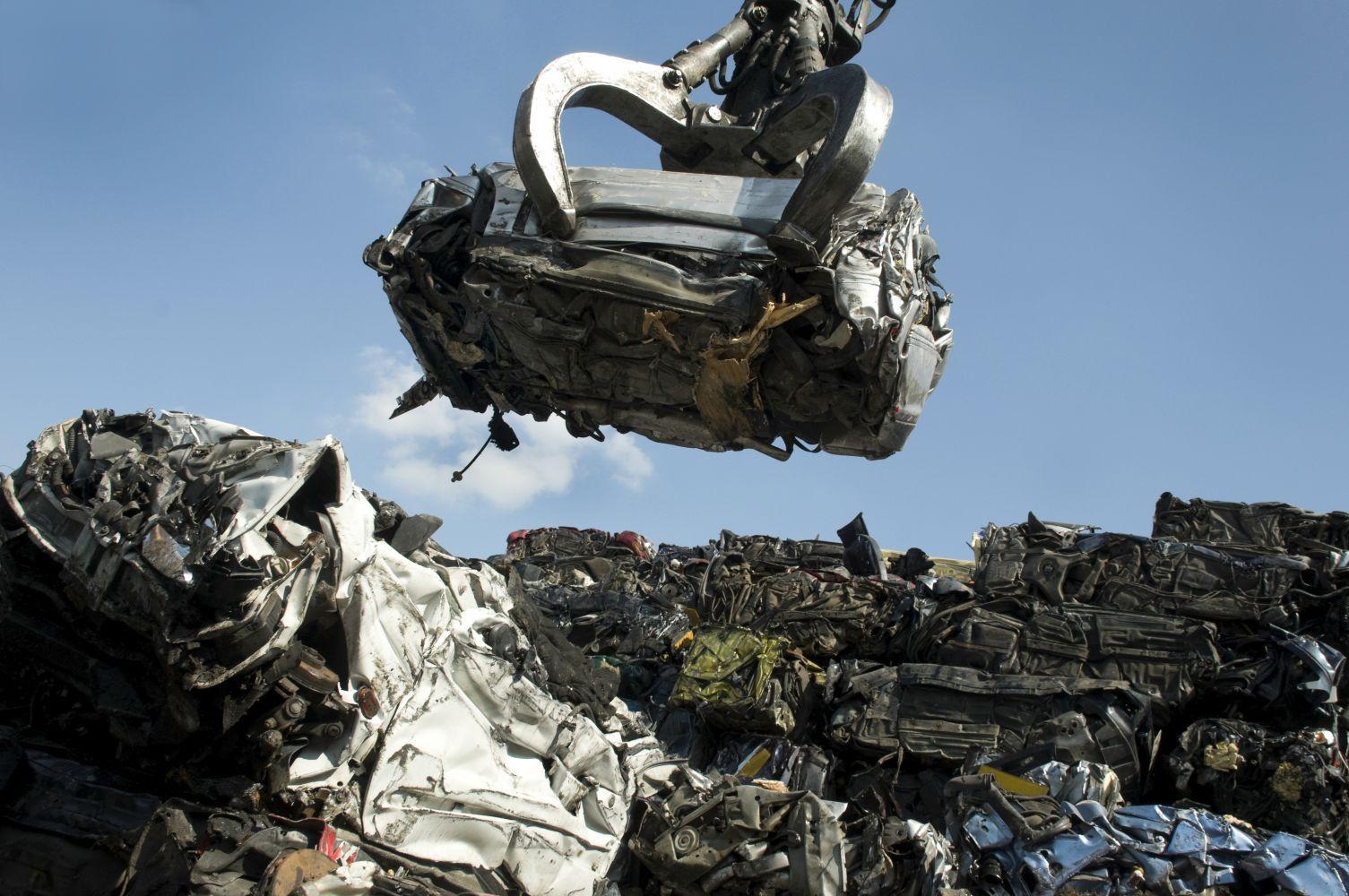 Piles of scrap metal in Fairbanks, AK