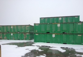 Some of our roll off containers in Fairbanks, AK